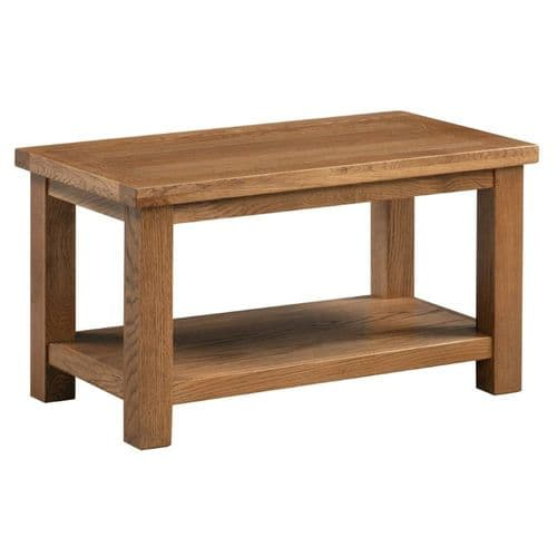 Elworth Rustic SMALL COFFEE TABLE WITH SHELF